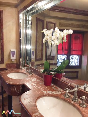 Ao pé do Porco, restaurante Au Pied de Cochon em Paris no blog da Conexão Décor banheiro
