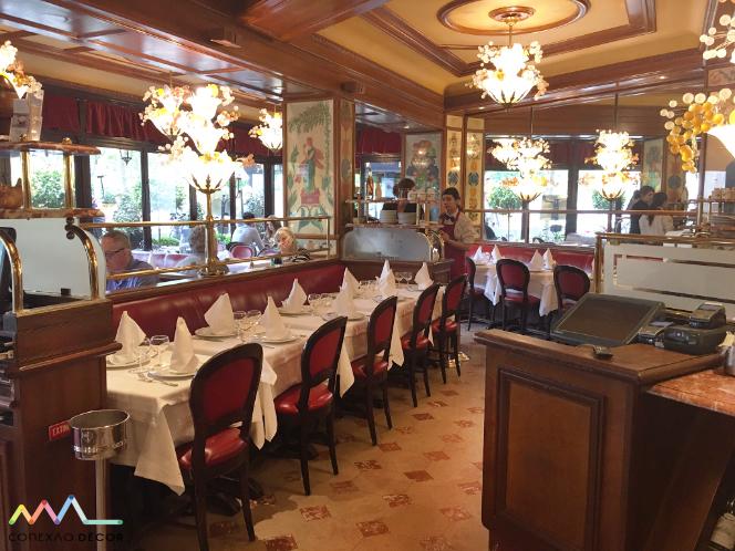 Ao pé do Porco, restaurante Au Pied de Cochon em Paris no blog da Conexão Décor interior