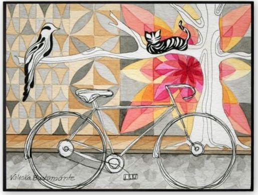 Bicicleta, assinada por Valeska Bustaman