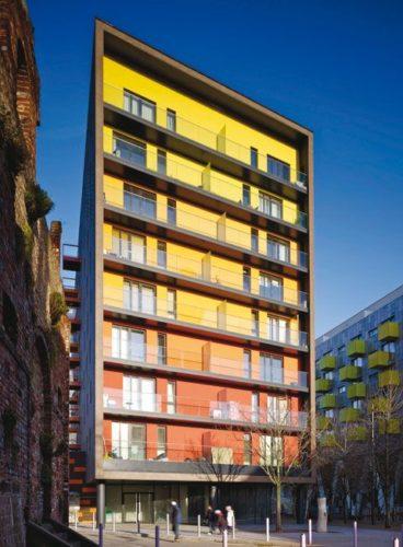 Edifícios coloridos pelo mundo, prédio em Londres.
