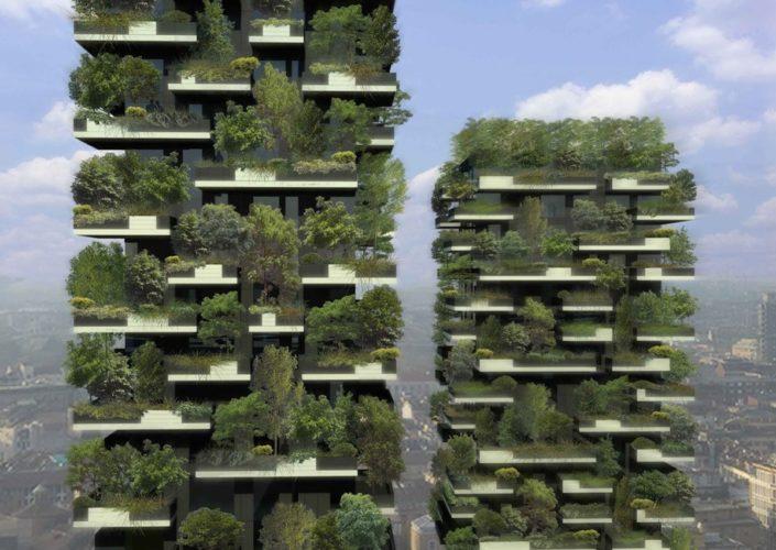 Torres Bosco Vertical em Milão foram decoradas com mais de 700 árvores.