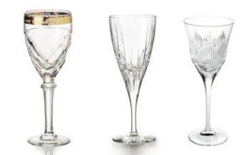 Taças para vinho das linhas Chevron, Fantasy e Palazzo, da Vista Alegre