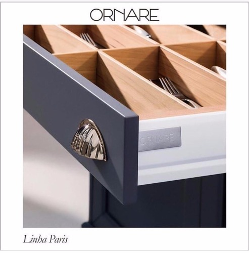 Detalhes da linha Paris, design de Patricia Anastassiadis para Ornare.