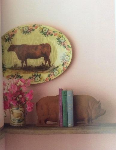 detalhes de porco e vaca na cozinha