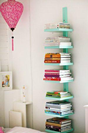 Biblioteca em casa, decorando com livros.