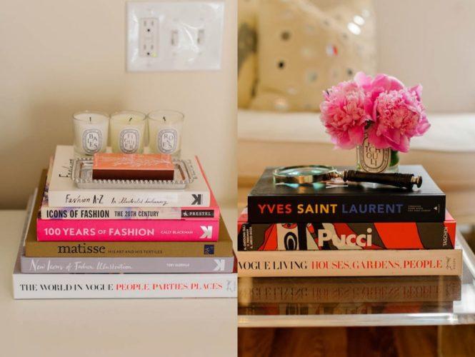 Biblioteca em casa, decorando com livros. Flores e livros.