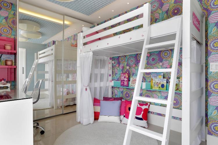 quarto de menina no projeto de Claudia Pimenta e Patricia Franco
