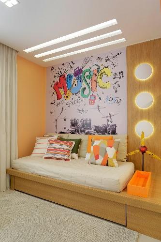quarto do menino na Casa do Recreio no projeto de Claudia Pimenta e Patricia Franco