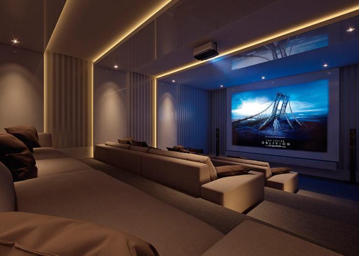 Dicas e inspira o para o seu cinema em casa conexao decor - Sala cinema in casa ...