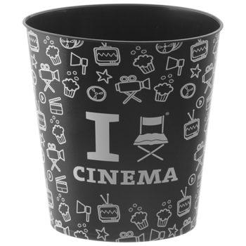 Detalhes que dão charme na decoração com tema de cinema, balde de pipoca da TokStok.