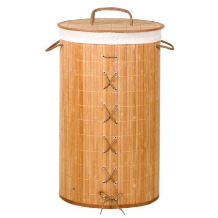 Cesto para roupas , em bambu natural, Você encontra na Leroy Merlin.