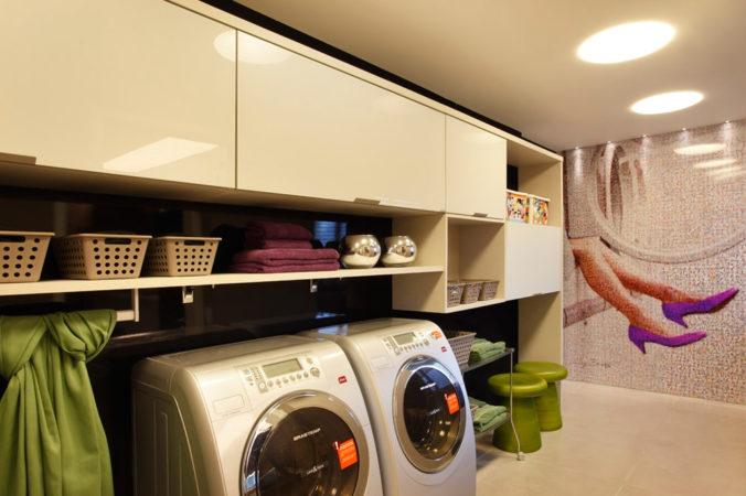 Armários sob medida para sua lavanderia.