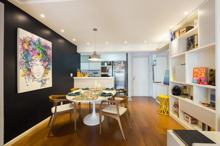 Mesa de jantar Saarinen no Projeto de Paula Werneck