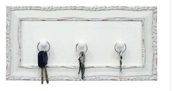 Cabideiro de parede com ganchos, Shabby Chic na Leroy Merlin