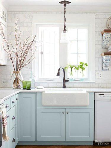 cozinha com apron sink cottage