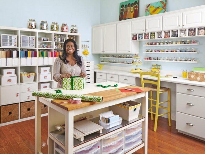vidros organizando o atelier em casa