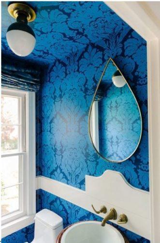 J ficou olhando para o teto conexao decor for Funky bathroom wallpaper ideas