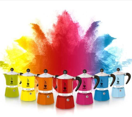 ABCasa feira dos sonhos!! Cafeteira Italiana Moka , em novas cores.