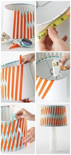 12 ideias baratinhas e rápidas faça você mesma ! Cúpulas com fitas de cetim transpassadas.