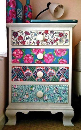 12 ideias baratinhas e rápidas faça você mesma ! frentes de gavetas forradas