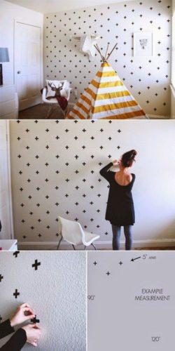 12 ideias baratinhas e rápidas faça você mesma ! Na parede , pequenos adesivos .
