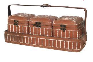 Conjunto de caixas chinesas, da Theodora Home - Lavabo
