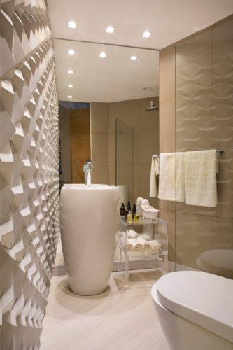 Lavabo com Projeto de Nilton Montarroyos e Estela Pinheiro para a mostra Morar Mais por Menos