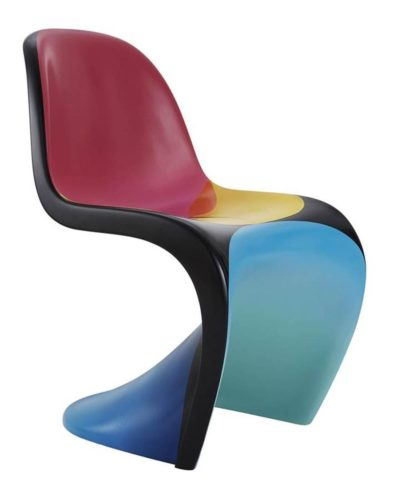 Cadeira PANTON assinada por Werner Panton em fibra de vidro pintada pelo artista João Paulo NOVE na arquivo contemporaneo