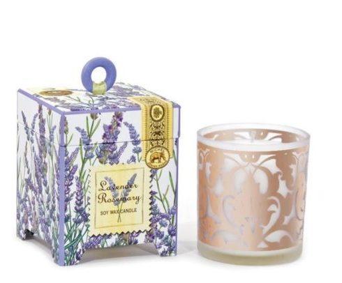Vela Lavender com copo, Coisas de Doris Lavabo