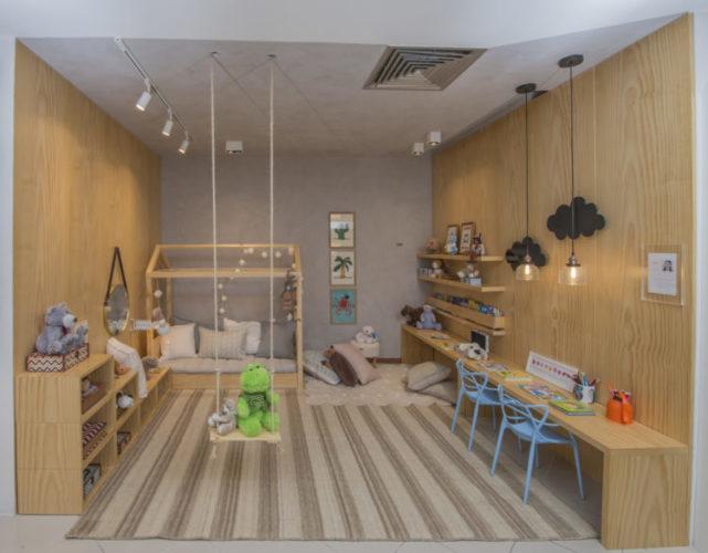 Primeira Mostra Carioca de Decoração Infantil. Decoração Com inspiração no método Montessori