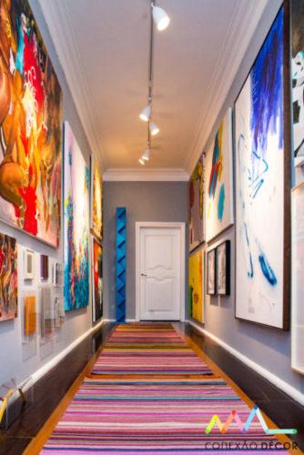 corredor do apartamento de Antonio Neves da Rocha