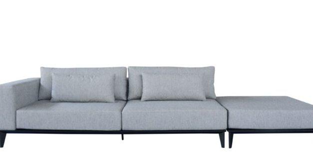 Sofá com design limpo e várias configurações