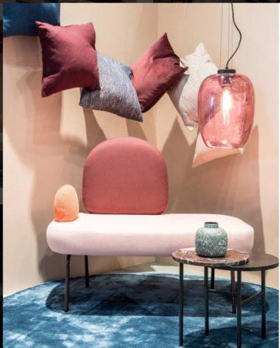 sofá rosa na maison&objet
