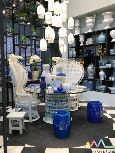 Azul e branco na maison&objet