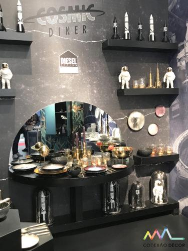 Coleção Cosmic Dinner, criada para a Diesel para Seletti