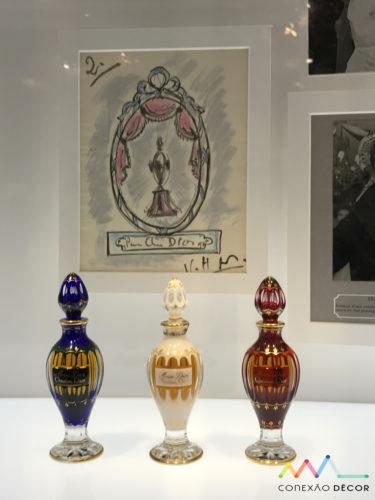 Edição especial de Miss Dior, com os frascos em cristal Baccarat, de 1949