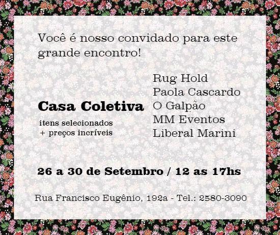 convite da Casa Coletina da semana de design rio