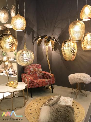 luminárias da zenza interiors na Maison&objet