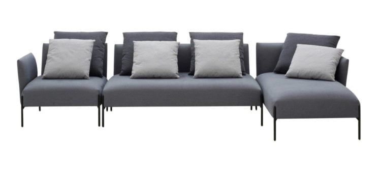 Sofá da Carbono Design,Linha Carbono 123. Sofá em módulos.