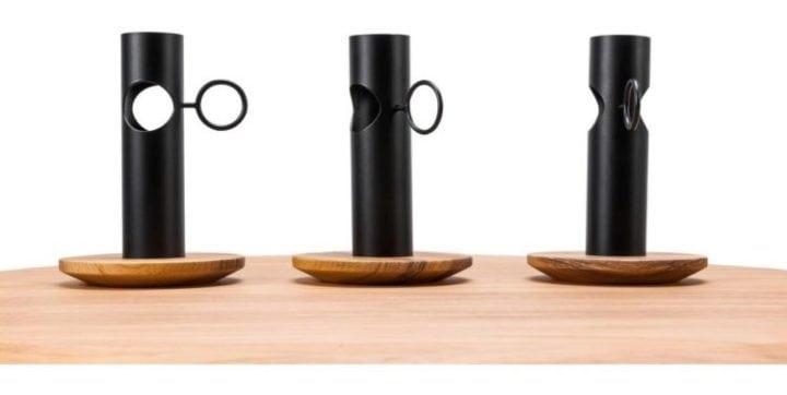 Vasos de flores Carbono Design.