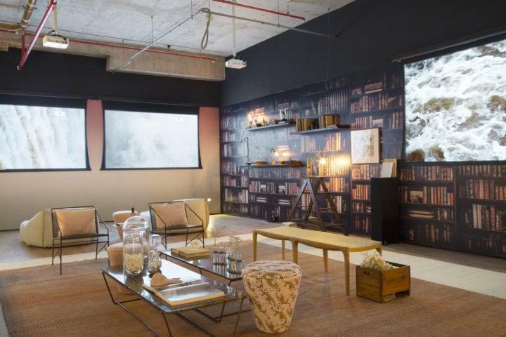 Cinema mais Arte do ambiente de Bianca da Hora e Jacira Pinheiro no Casa Cor Rio 2017