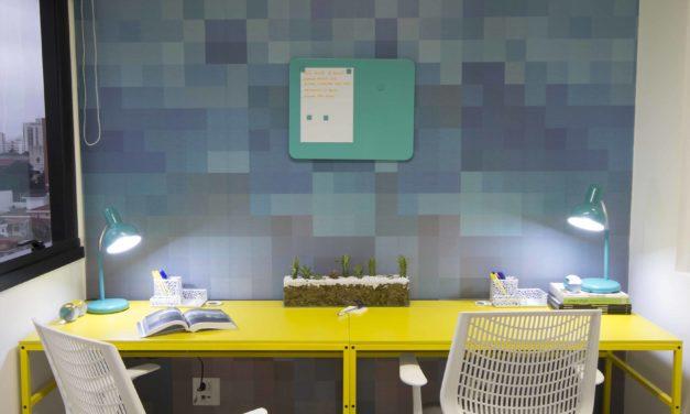 Projeto de um escritório de eventos em 55 m2