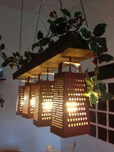 ralador de queijo luminária para ideias charmosas e criativas para cozinha