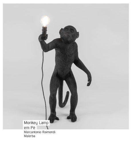 Monkey Lamp. As Luminárias de macacos invadiram a decoração.