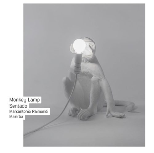 Monkey Lamp, os macacos invadiram a decoração.