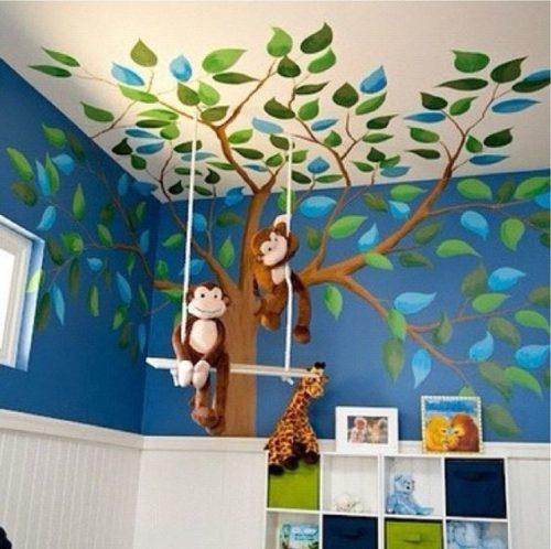 Detalhes de decoração para as crianças.