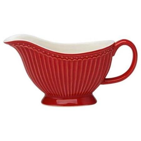 Molheira vermelha, da linha de louça Alice, da marca dinamarquesa Greengate.