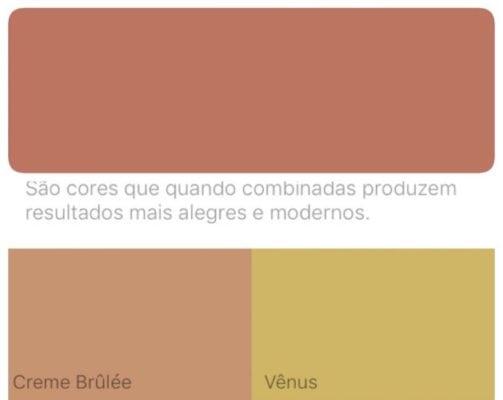 Combinação da cor de 2018 eleita pela Suvinil Tintas , Terra Roxa.