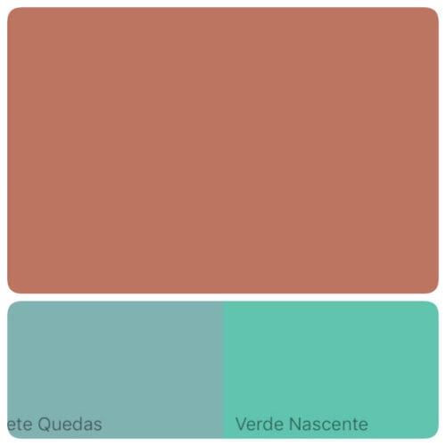 Combinação de tonalidades com a cor de 2018 eleita pela Suvinil Tintas. Terra Roxa .