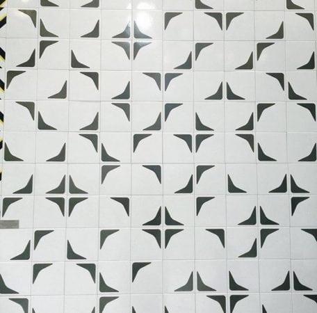 Cerâmicas estampadas em preto e branco., da Colormix Revestiementos.
